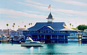 Cruiser Painting Metal Prints - Newport Pavilion Metal Print by Frank Dalton