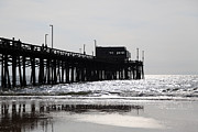 Newport Beach Framed Prints - Newport Pier Framed Print by Paul Velgos