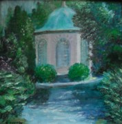 Library Paintings - NEWPORT RHODE ISLAND  Redwood Library Summer House by Nancy Custin