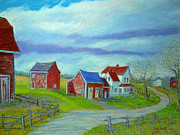Farm Pastels - Newport Station Nova Scotia by Rae  Smith PSC