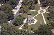 Aerial Photo - Newport Tower Rhode Island by Duncan Pearson