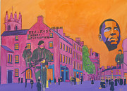 Obama Paintings - Newry ireland 1895 by Oliver Curran