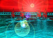 Utopia Digital Art - News From The Coast by Ingrid Stiehler