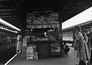 News Stand Prints - News Stand Between Train Station Platforms Print by George Marks