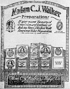 Harriet Tubman Prints - Newspaper Ad For Madam C.j. Walker Print by Everett