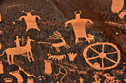 Anasazi Framed Prints - Newspaper Rock Close-up Framed Print by Gary Whitton