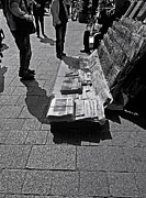 Newspaper Prints - Newspaper Stand 2 - Vienna Print by Madeline Ellis