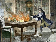 Fire Dog Prints - Newtons Opticks Notes In Flames, 1692 Print by Sheila Terry