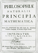 Title Page Art - Newtons Principia, Title Page by Science Source