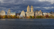 Urban Scenic Art - NewYork Sky Line Central Park Reservoir Facing West by Robert Ullmann