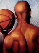 Basketball Sports Pastels Prints - Next Print by Curtis James