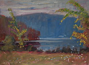 Colors Of Autumn Originals - Next Day At Second Pond by Len Stomski
