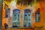 Crete Painting Originals - Next Door Neighbours by Harold Kimmel