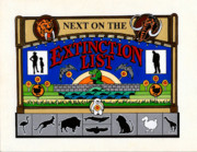 Brontosaurus Framed Prints - Next on the Extinction List Framed Print by Keith QbNyc