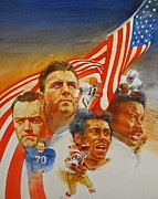 American Flag Mixed Media Originals - NFL Hall Of Fame 1984 Game Day Cover by Cliff Spohn