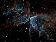Space Art Prints - NGC 6302 Butterfly Nebula Print by Alizey Khan