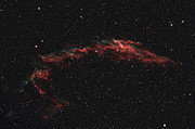 Celestial Objects Prints - Ngc 6992, The Eastern Veil Nebula Print by Rolf Geissinger
