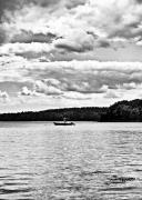 Seacoast Prints - NH Landscape Seacoast BW 2 Print by Edward Myers