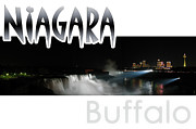 Night Out Framed Prints - Niagara At Night Framed Print by Syed Aqueel