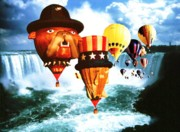 Photo Collage Prints - Niagara Balloons 2 - Fantasy Collage Print by Peter Art Prints Posters Gallery