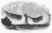 1842 Photos - Niagara Falls, 1842 by Granger
