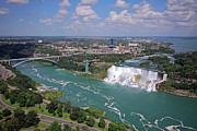 Niagara River Prints - Niagara Falls Aerial View Print by Charline Xia
