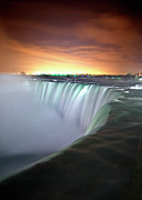 Horizon Over Water Metal Prints - Niagara Falls By Night Metal Print by Insight Imaging