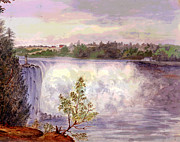 Luna Mixed Media Prints - Niagara Falls Print by Charles Shoup
