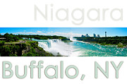 The New Deal Framed Prints - Niagara Falls Day Panorama Framed Print by Syed Aqueel