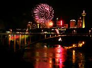 Niagara Falls Fireworks Print by Mark J Seefeldt