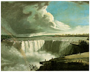 Falls Paintings - Niagara Falls from Table Rock by John Vanderlyn