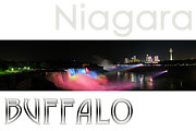 Best Choice Framed Prints - Niagara Falls Postcard Framed Print by Syed Aqueel