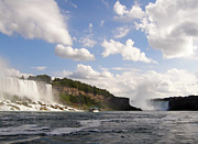 Niagara Falls View From The Maid Of The Mist Print by Mark J Seefeldt