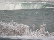Niagara River Prints - Niagara Falls Winter Print by Deborah MacQuarrie