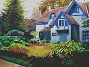 Niagara On The Lake Paintings - Niagara Garden by Keith Bagg