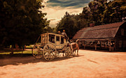 Horse And Buggy Framed Prints - Nice And Easy Framed Print by Lourry Legarde
