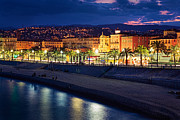 Azur Prints - Nice by Night Print by Inge Johnsson
