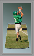 National Football League Digital Art Framed Prints - Nice Catch 02 Framed Print by Thomas Woolworth