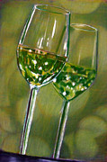 Wine Glass Pastels - Nice Pair by D Rogale