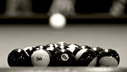 Pocket Billiards Prints - Nice Rack Print by Pam  Holdsworth