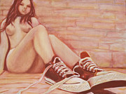 Converse Paintings - Nice Shoes... by Derek Donnelly
