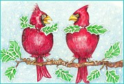 Cardinals Drawings - Nice Tie by Peggy Wilson