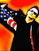 U2 Mixed Media Originals - Nicholas Nixo U2 Bono by Nicolas Nixo