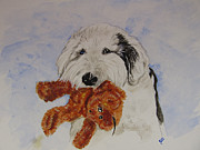 Sheepdog Paintings - Nick and Bear by Carol Blackhurst