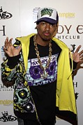Baseball Cap Prints - Nick Cannon At Arrivals For Nick Cannon Print by Everett