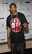 Stop Sign Prints - Nick Cannon At Arrivals For Rocawear Print by Everett