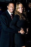 Mariah Carey Prints - Nick Cannon, Mariah Carey At Arrivals Print by Everett