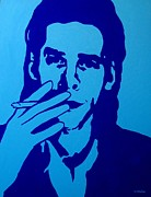 Singer  Paintings - Nick Cave by John  Nolan