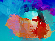 Rock Band Metal Prints - Nick Cave Metal Print by Irina  March