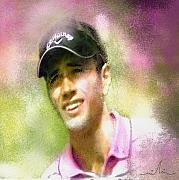 Pga European Tour Prints - Nick Dougherty in The Golf Trophee Hassan II in Morocco Print by Miki De Goodaboom